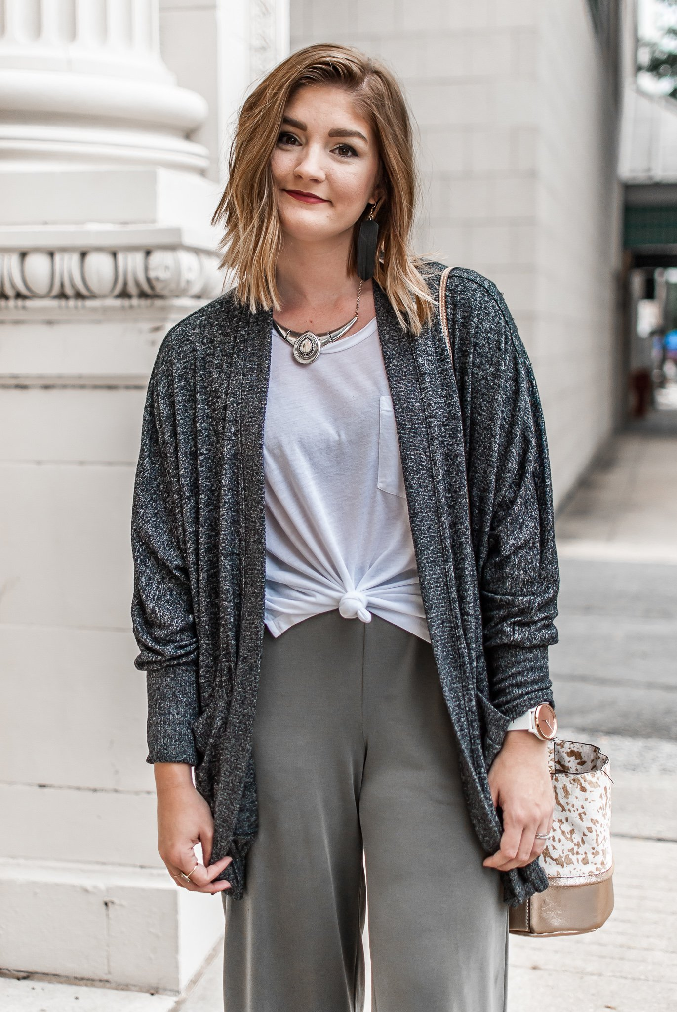how to dress up your favorite comfy clothes