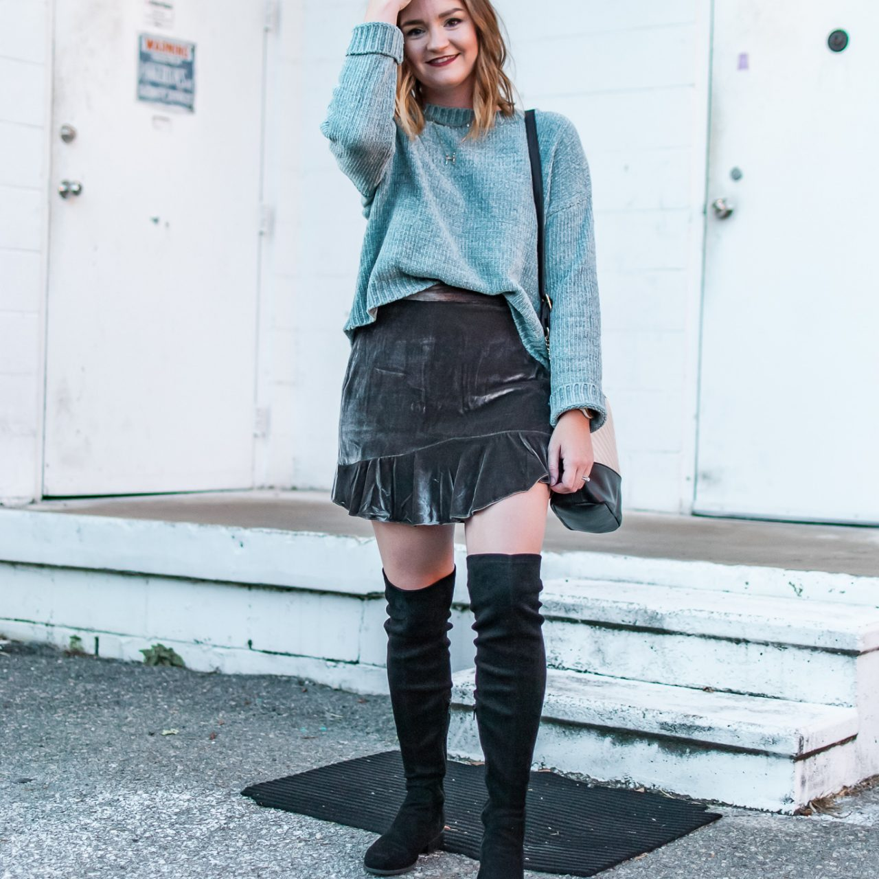 Chenille Sweaters + How To Mix Textures In An Outfit