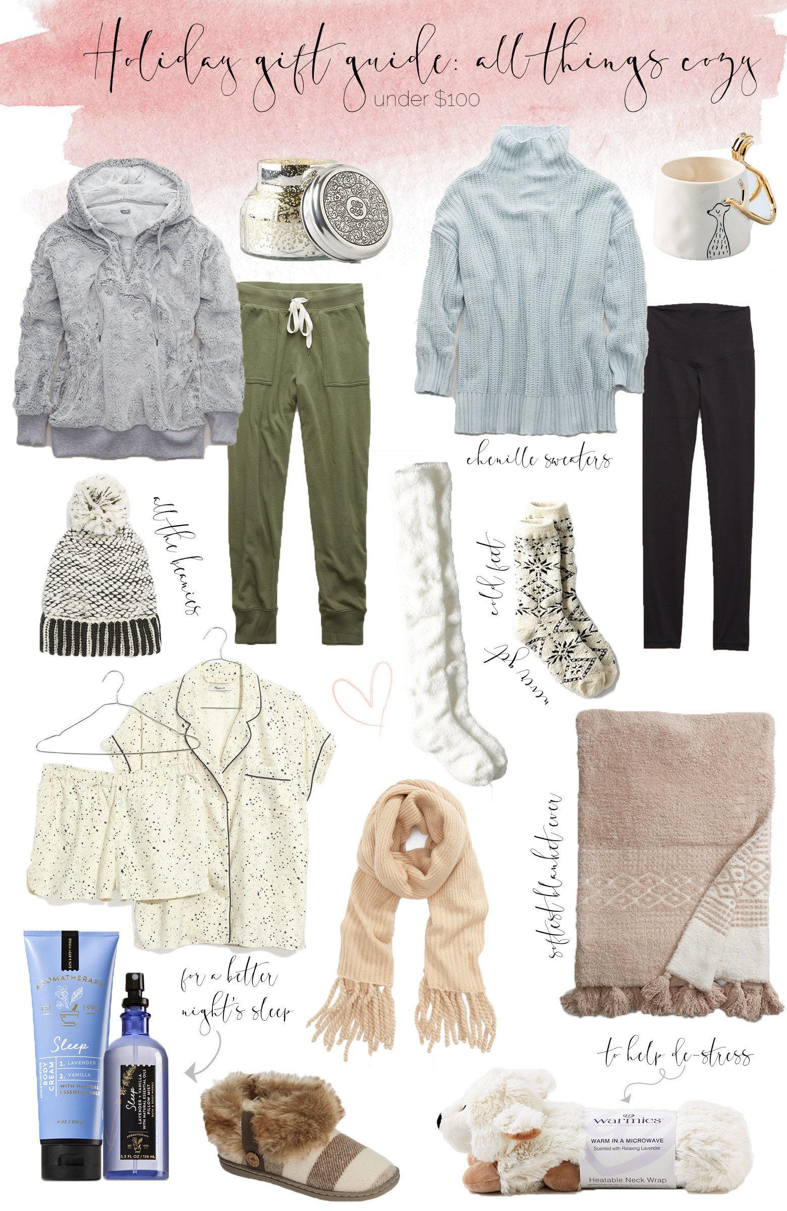 Holiday gift guide all things cozy