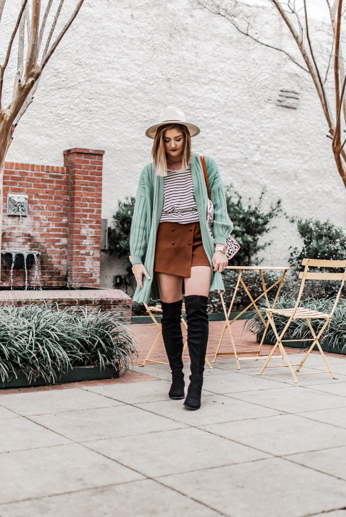 winter-spring transition outfit