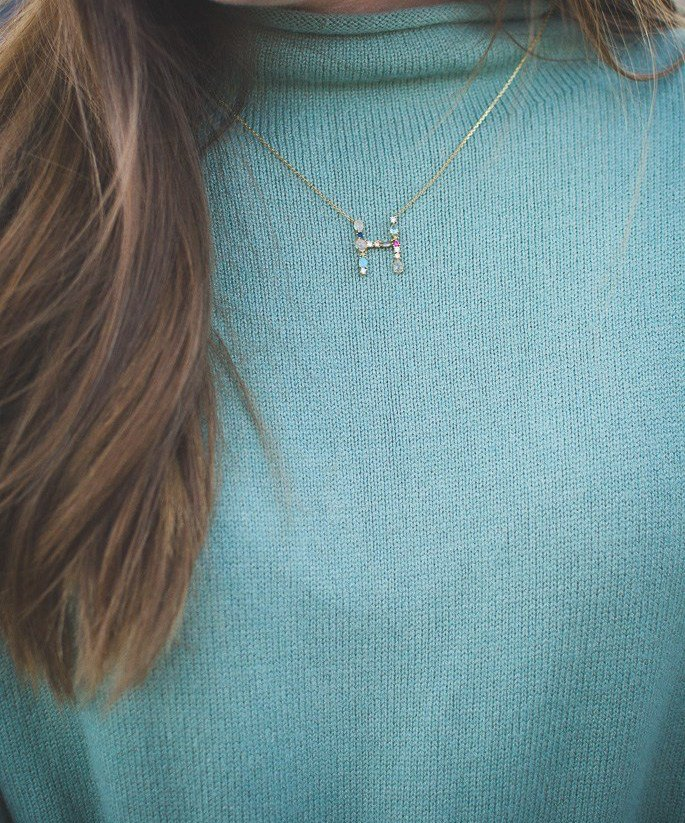 Anthropologie Initial Necklace