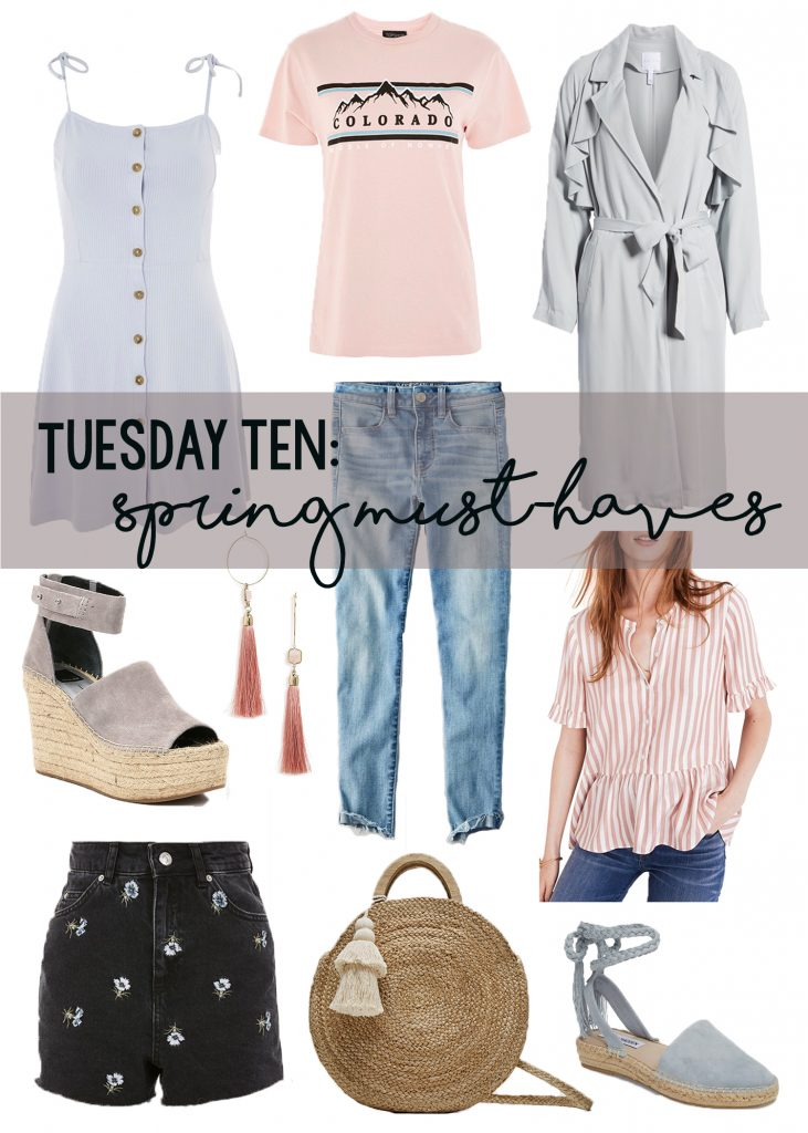 Spring must have clothing, shoes, and accessories