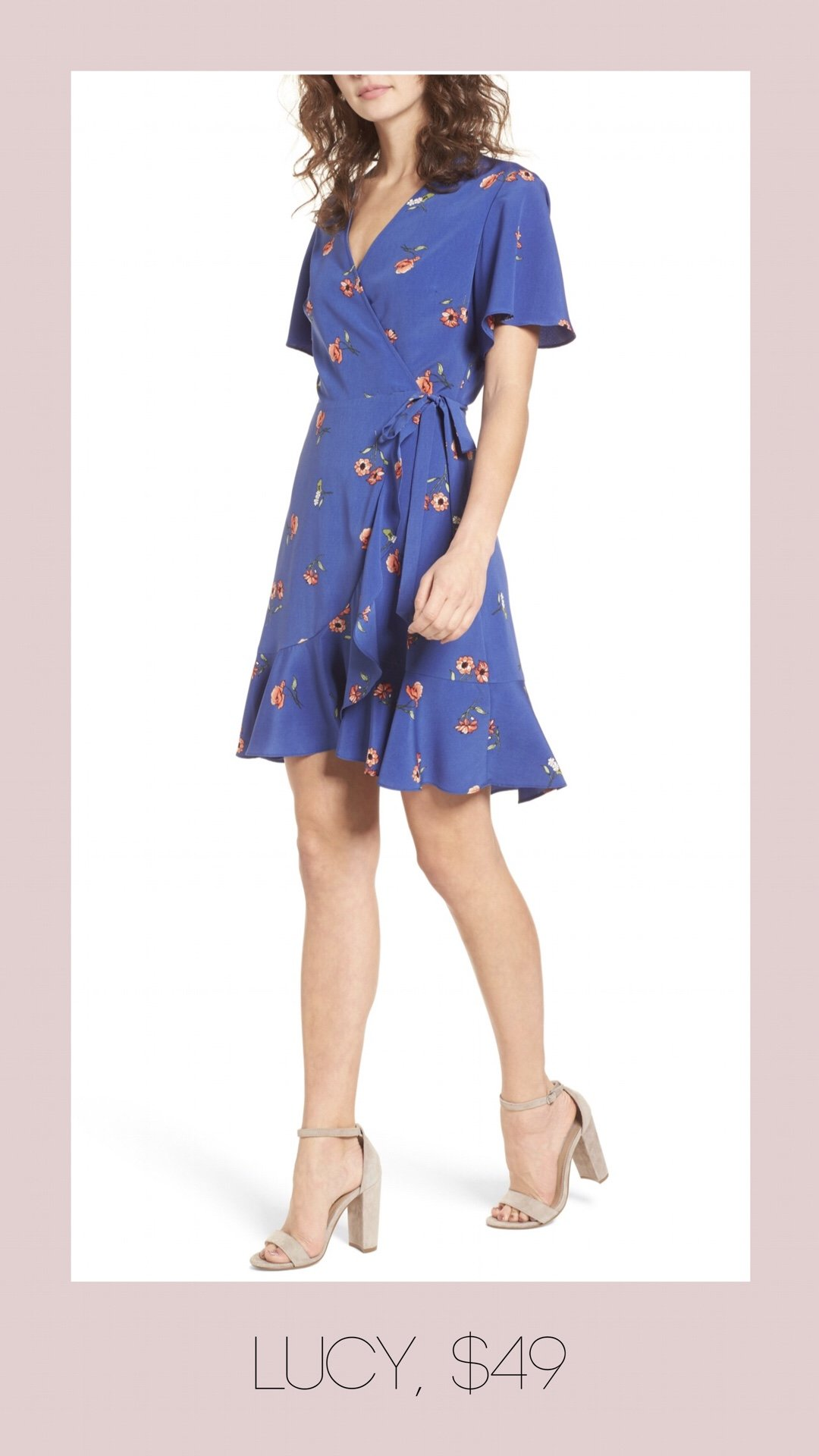 Lucy floral wrap dress