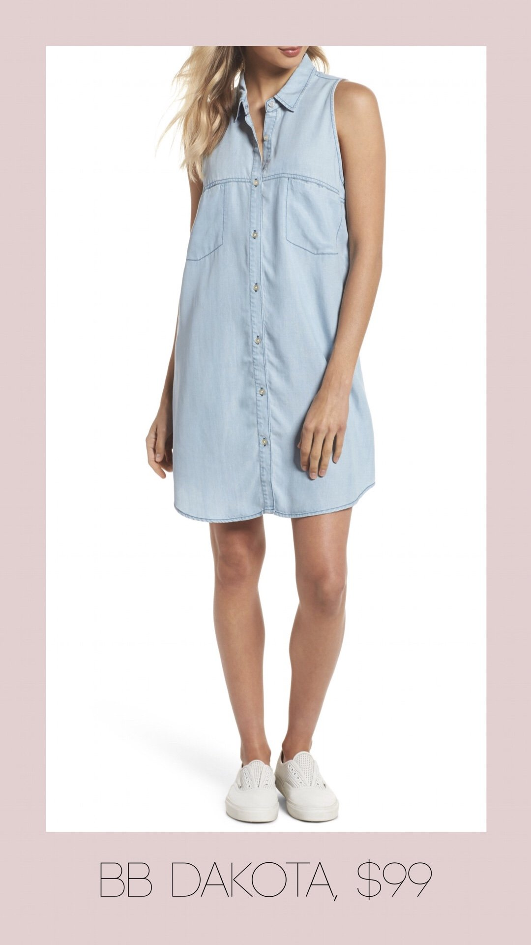BB Dakota button front shirt dress