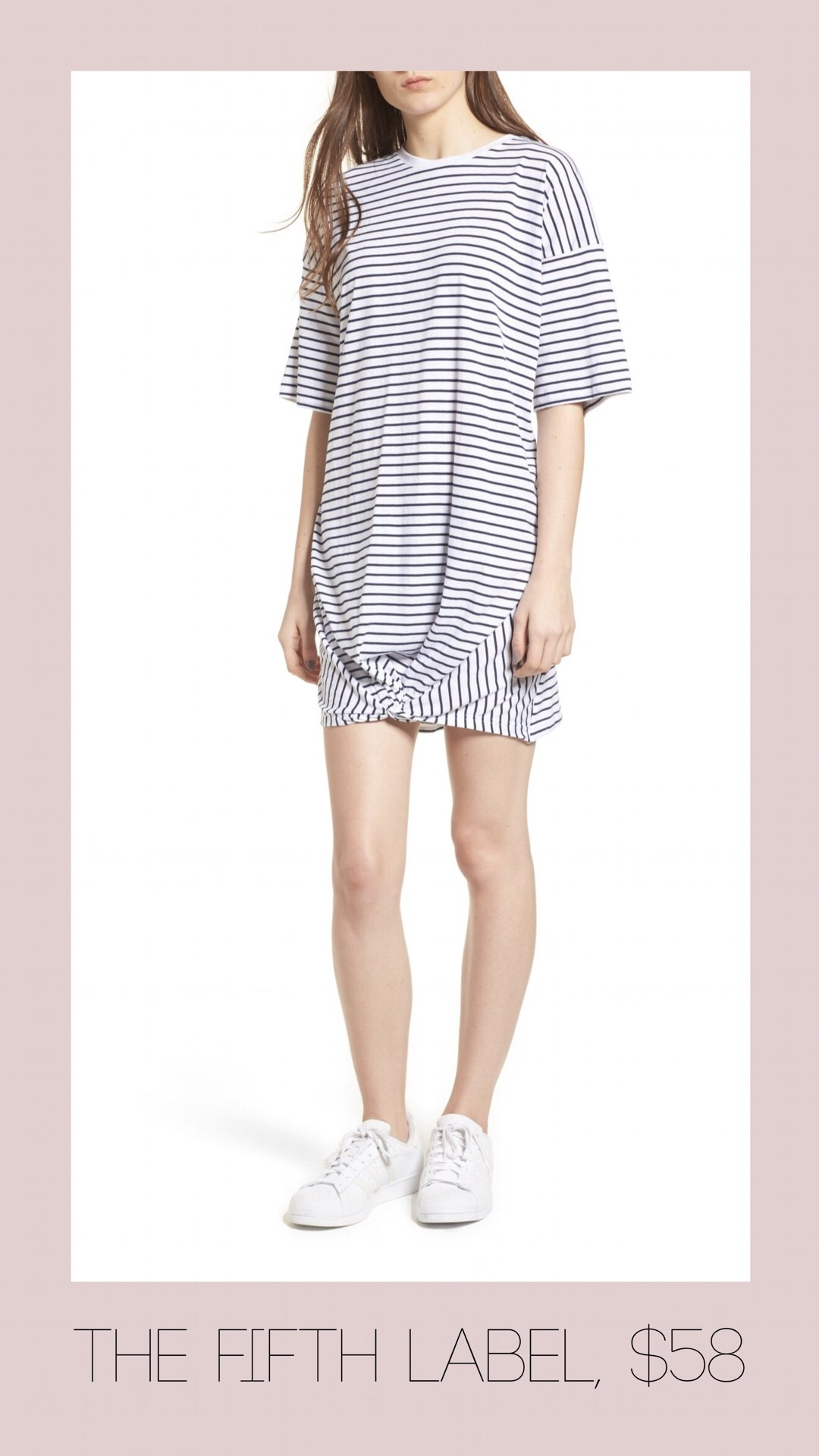 The Fifth Label striped knot t-shirt dress