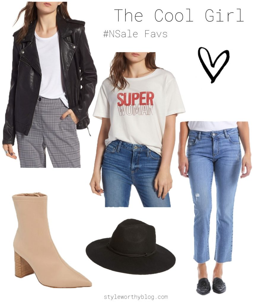 Nordstrom Sale favorites - leather and denim