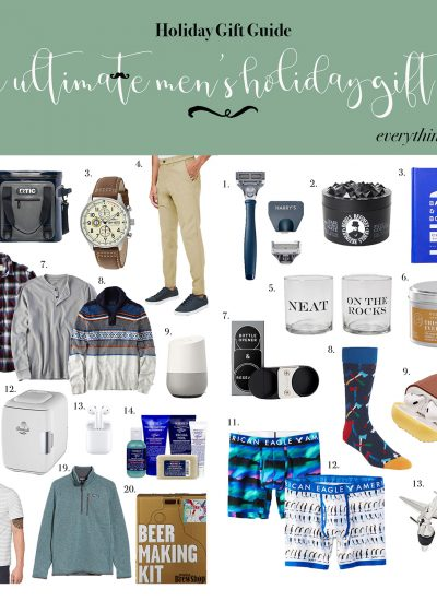 The Ultimate Men's Holiday Gift Guide + Stocking Stuffers For Him