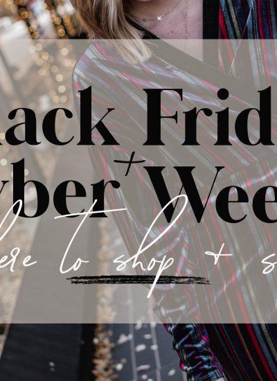 Black Friday + Cyber Week Sales 2019