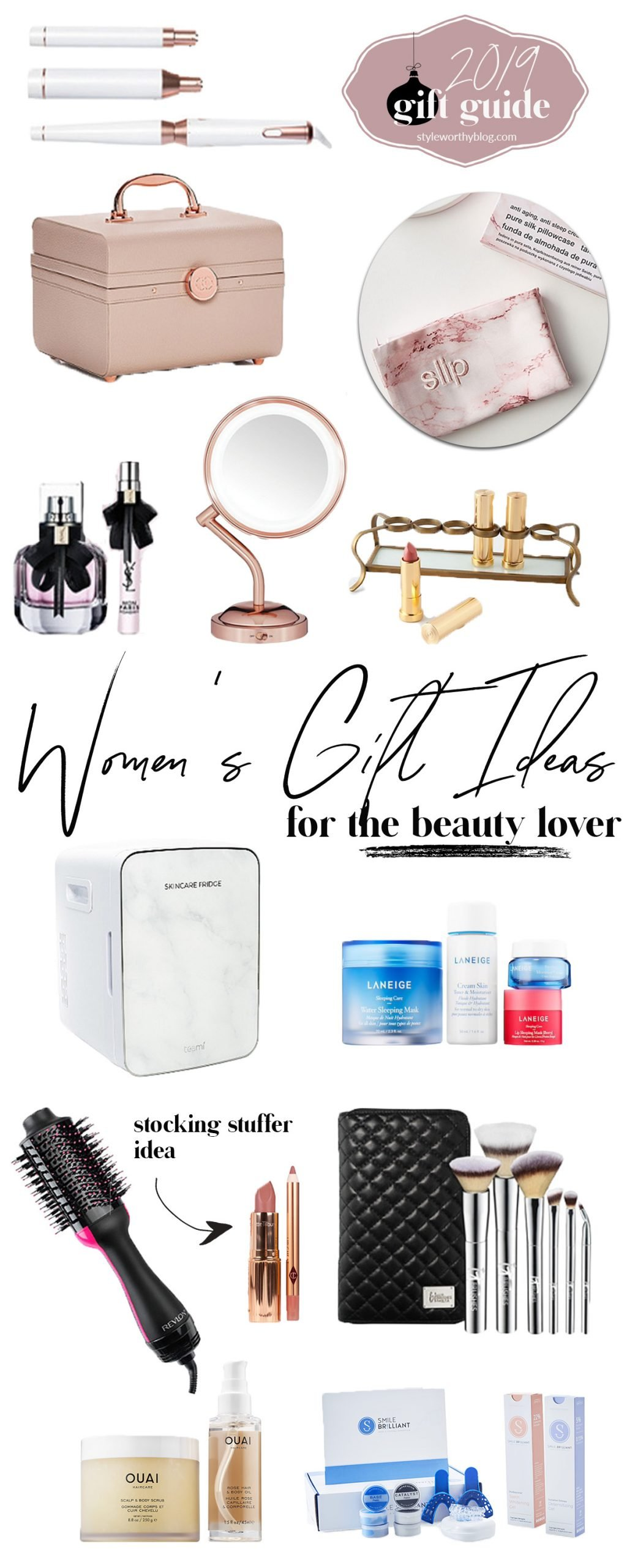 Women's gift guide. Gift ideas for the beauty lover
