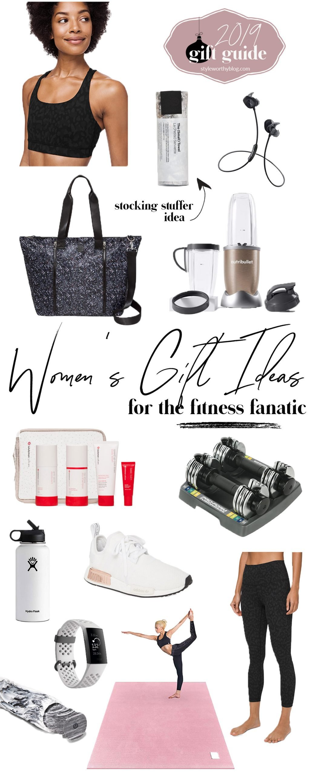 Women's gift guide. Gift ideas for the fitness fanatic