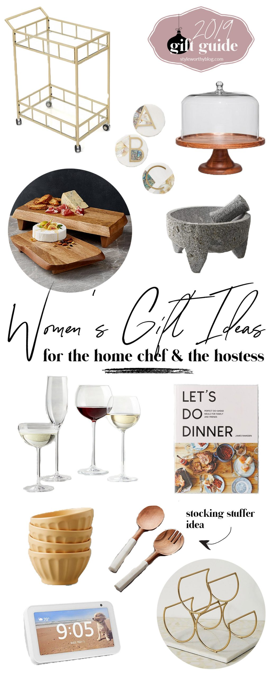Women's gift guide. Gift ideas for the home chef and the hostess