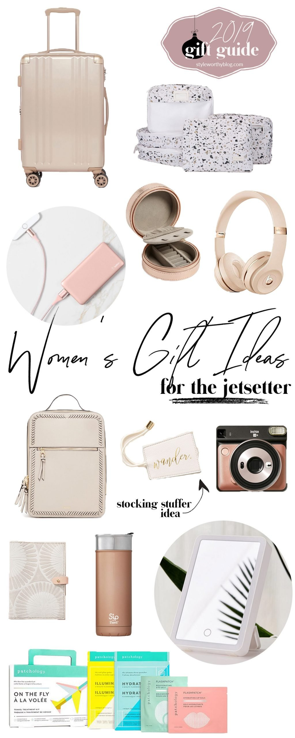 Women's gift guide. Gift ideas for the Jetsetter