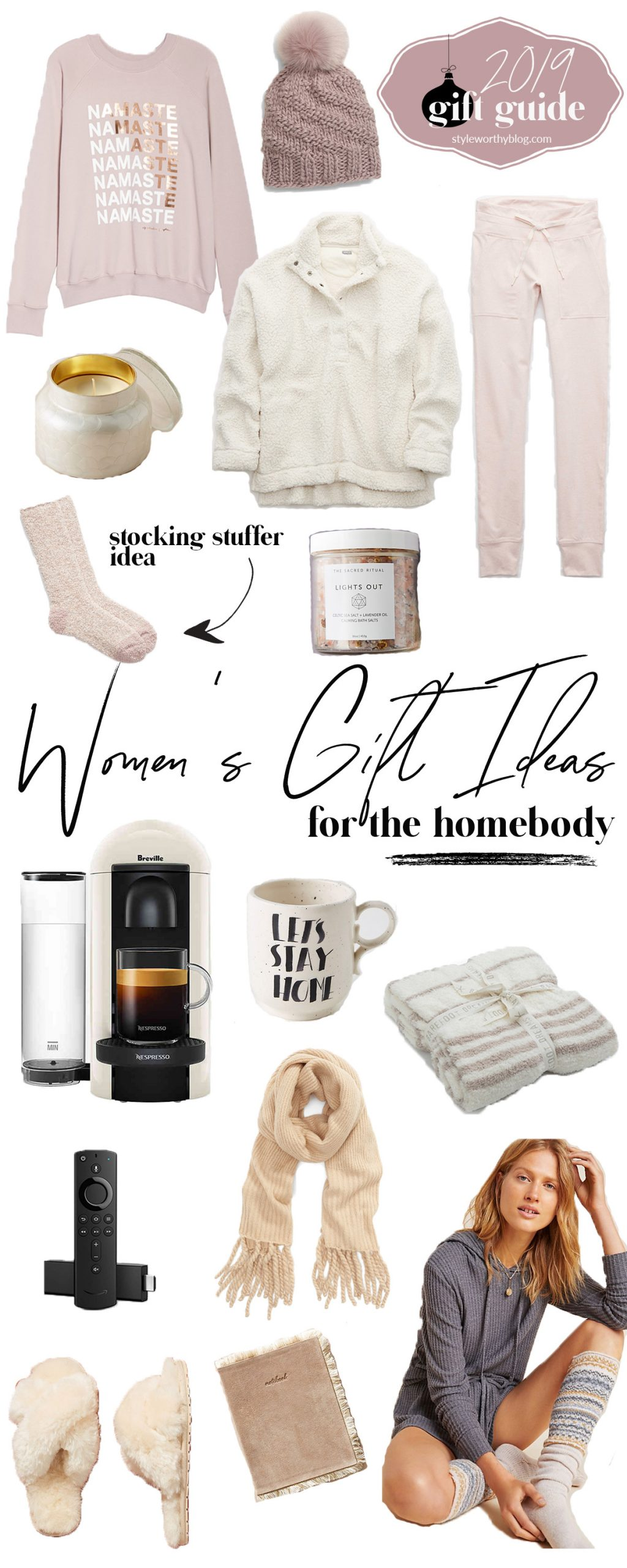 Women's gift guide. Gift ideas for the homebody