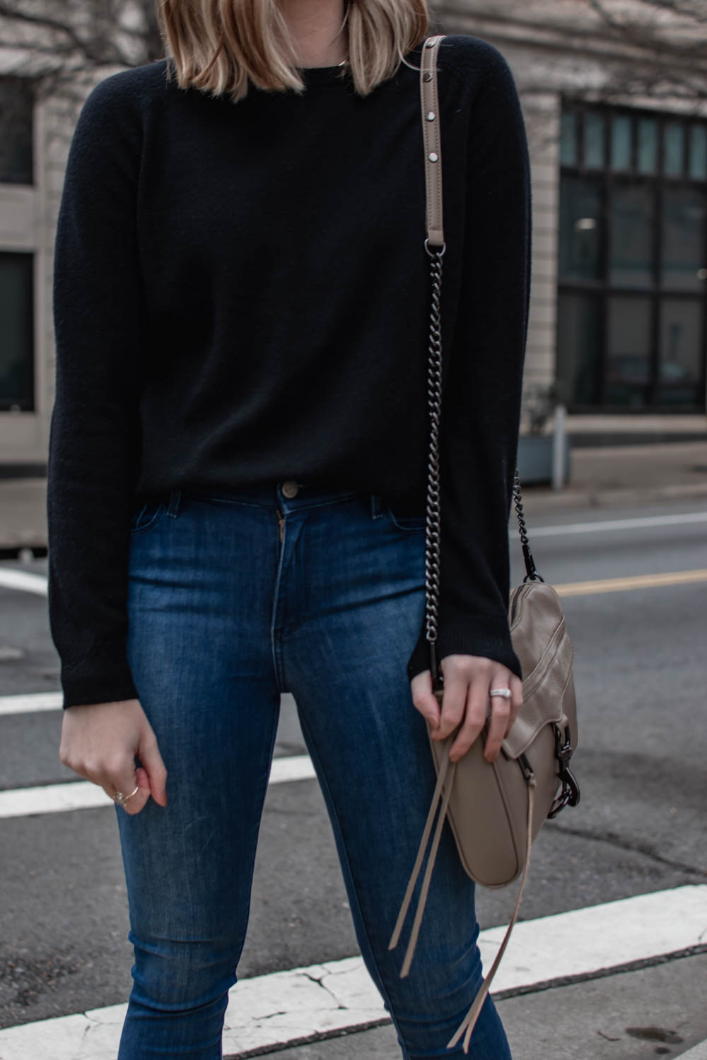 Cashmere Sweater and Denim from Mott & Bow