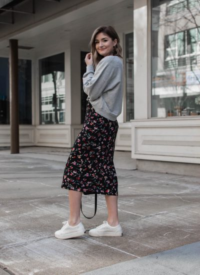 1 Skirt, 3 Transitional Spring Outfits