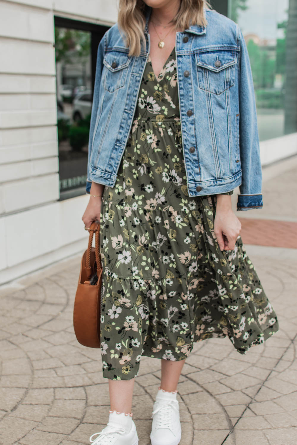 Floral Maxi Dress and Sneakers